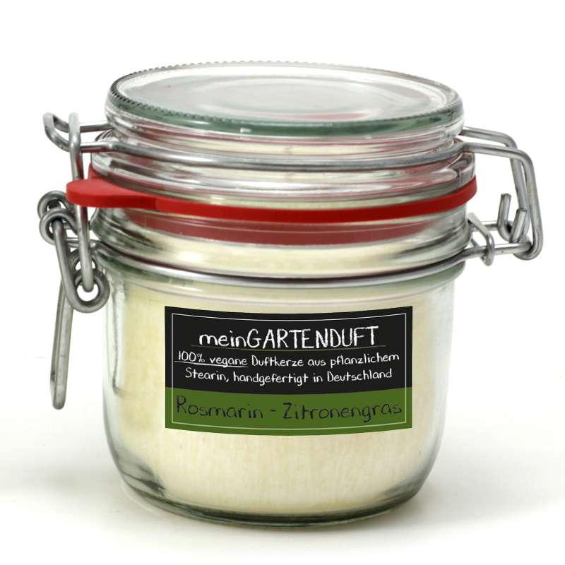 Candle Factory meinGartenduft Rosmarin-Zitronengras Drahtbügelglas klein 507-008