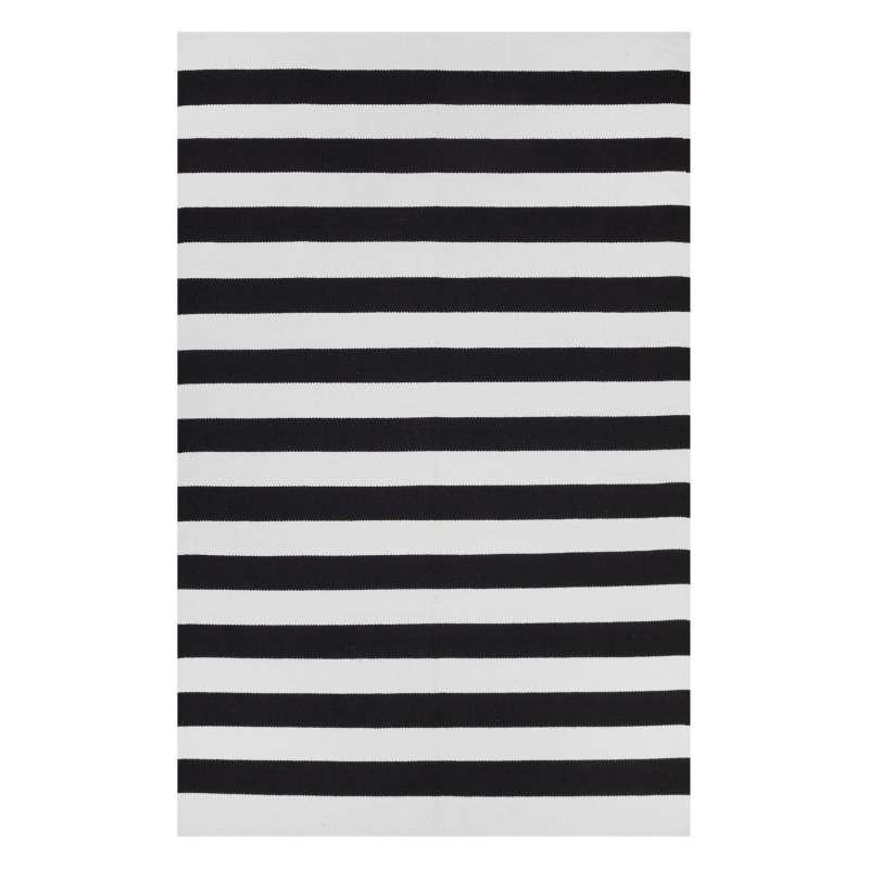 Fab Habitat Teppich Nantucket Black&Bright White aus recycelter Baumwolle schwarz/weiß 150x240 cm