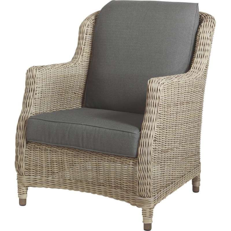4Seasons Outdoor Brighton living Sessel Polyrattan Pure inkl 2 ...