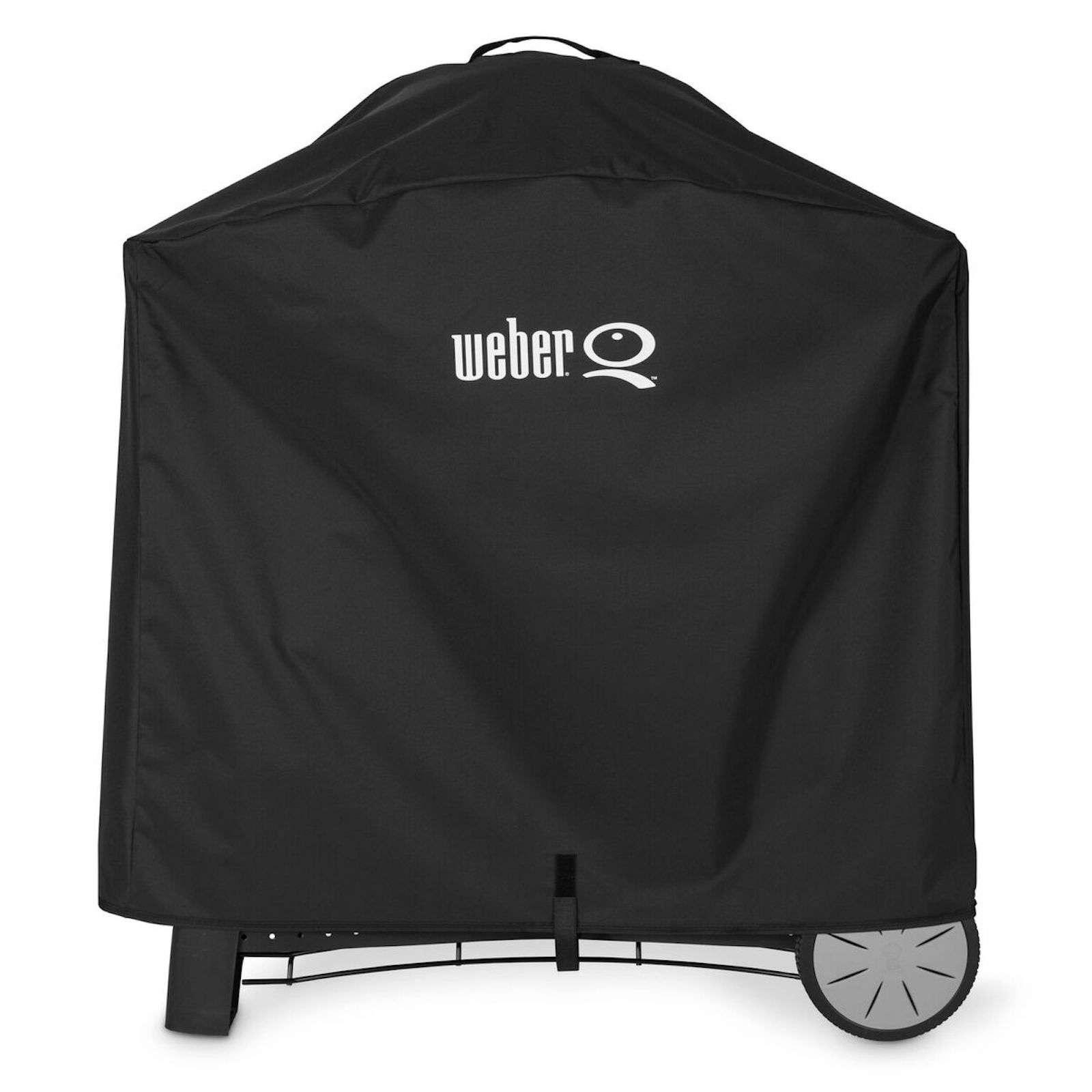 weber premium abdeckhaube f r q 2000 und q 3000 serie mit rollwagen. Black Bedroom Furniture Sets. Home Design Ideas