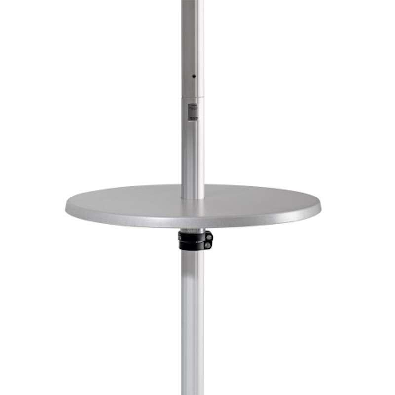 GLATZ Bistrotisch ø 60 cm Höhe 119 cm Kunststoff silbergrau zu Fortero