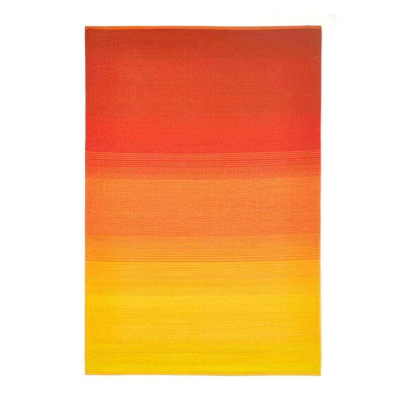Fab Hab Outdoorteppich Big Sur aus recyceltem Plastik Sunset gelb/orange wetterfest 120x180 cm