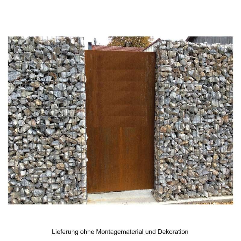 Mecondo PARAS Sichtschutzwand 45x180 cm Corten/Edelstahl/Aluminium 30 mm Kantung