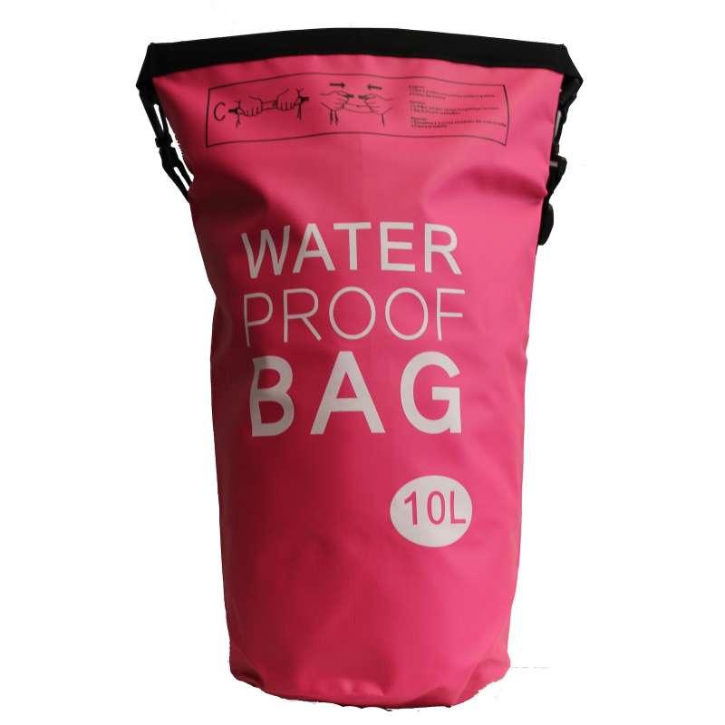 Drybag 10L Tasche 10 Liter wasserdicht Packsack pink Water proof Softcase Beutel