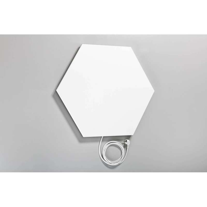 Elbo-Therm Hexagon 6-Eck Infrarotheizung Wandheizung Elektroheizung 500 Watt Weiss