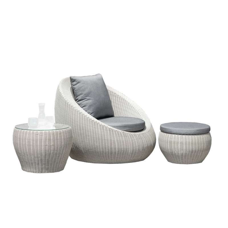 Stern Loungeset SET Anny Sofa Loungegarnitur 3-teilig Relaxsessel Loungesessel