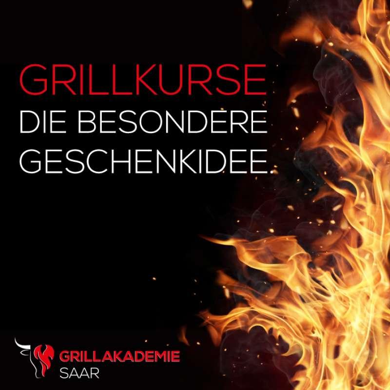 Gutschein für Grillkurs in der Grillakademie Saar in Saarlouis / Saarland im Wert von 119.- €