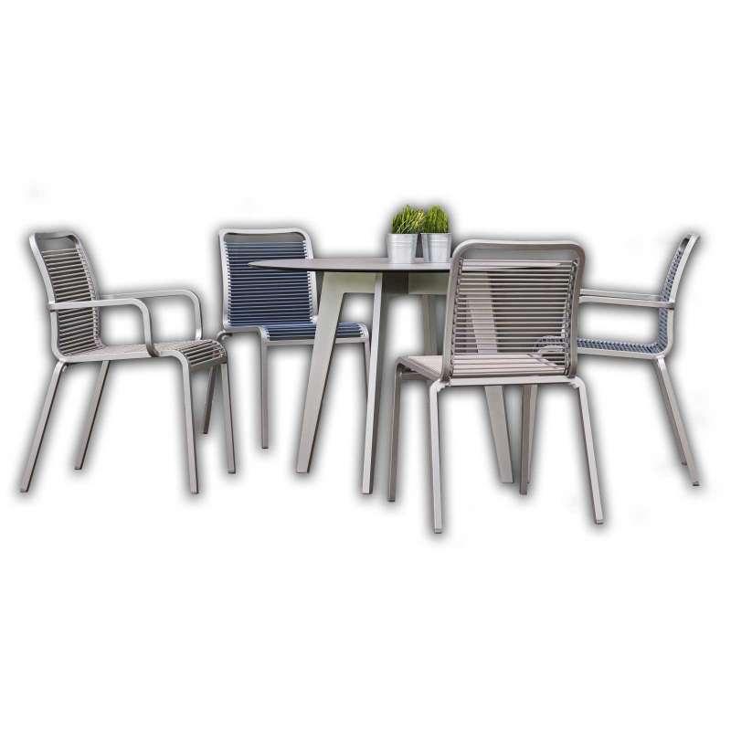 Stern Sitzgruppe Oskar SET Tisch ø 110 cm Silverstar 2.0 Tischgruppe 5-teilig