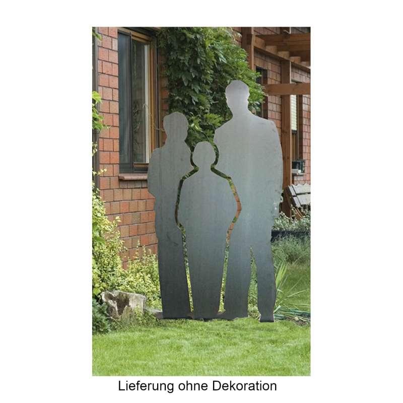Mecondo SILAS L Skulptur Familie Cortenstahl 200 cm Gartendekoration