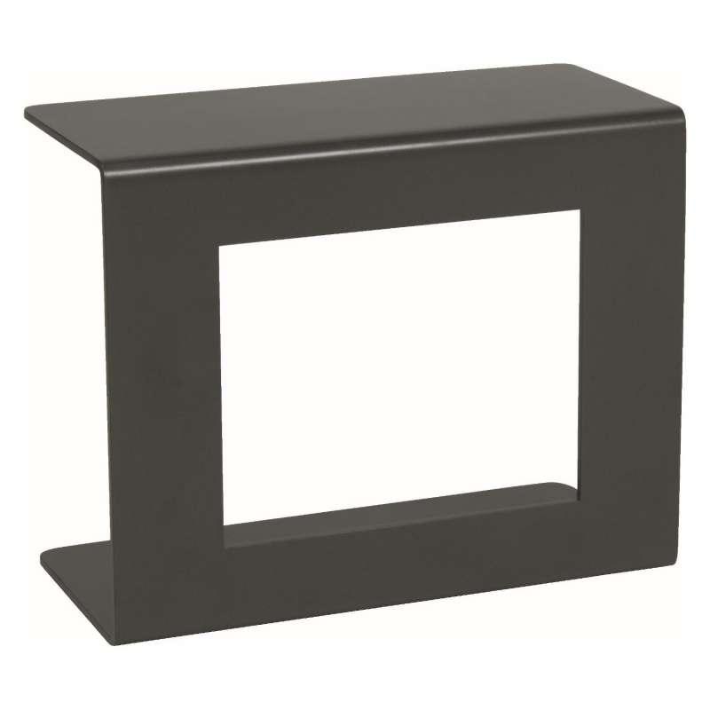 Stern Beistelltisch Aluminium anthrazit 54x25x43,5 cm Loungetisch Tisch