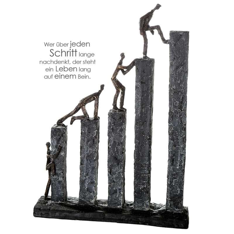 Casablanca Skulptur Raise Poly bronzefarben/grau 43 cm