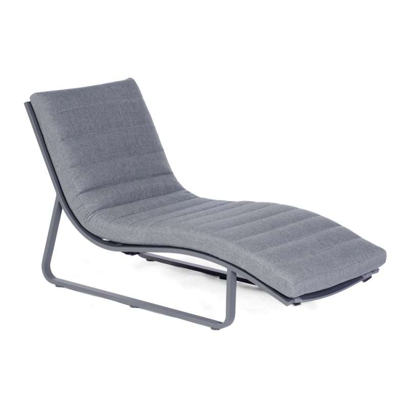 Sonnenpartner Lounge-Liege Cloud Aluminium anthrazit mit Auflage Relaxsessel Gartenliege
