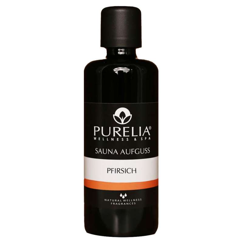PURELIA Saunaaufguss Konzentrat Pfirsich 100 ml natürlicher Sauna-aufguss - reine ätherische Öle