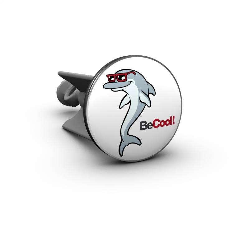 Plopp Waschtischstöpsel - Waschbeckenstöpsel Motiv Be cool - Cool Dolphin 396