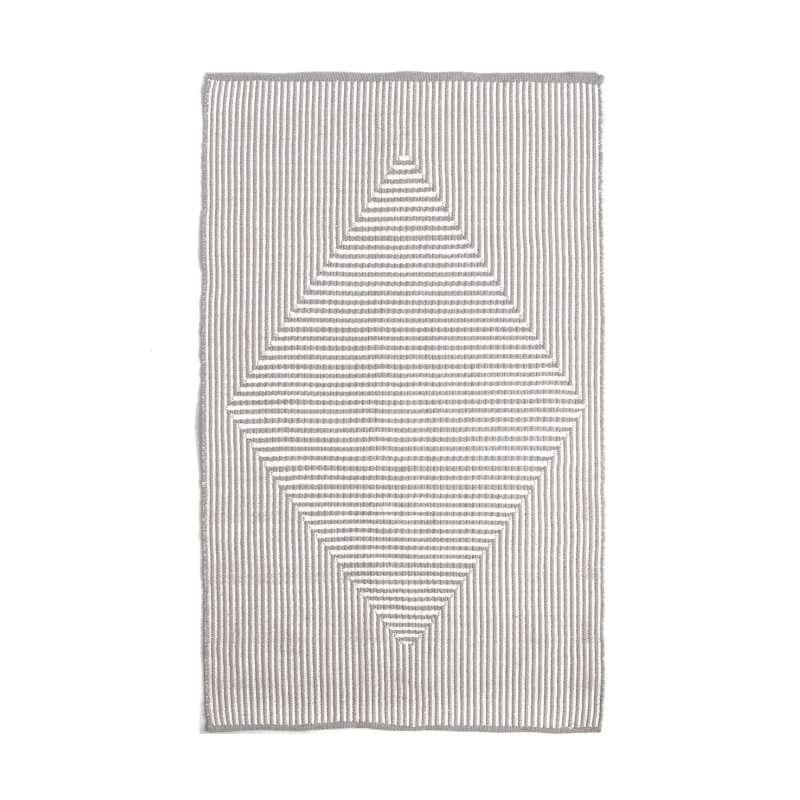 Fab Hab Outdoorteppich Denver Gray aus recycelten PET-Flaschen grau 60x90 cm
