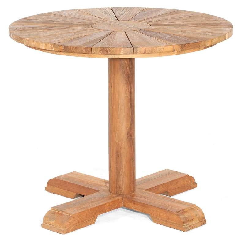 Sonnenpartner Gartentisch Solis rund Ø 90 cm Teakholz Old Teak Tisch Esstisch
