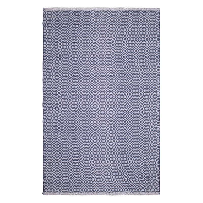 Fab Habitat Teppich Bodhi Blue aus recycelter Baumwolle blau 120x180 cm