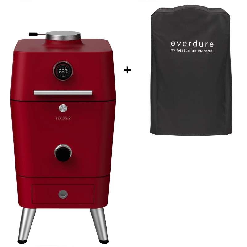 Everdure 4K Kohle- und elektrischer Outdoor Ofen inkl. Premium Abdeckhaube