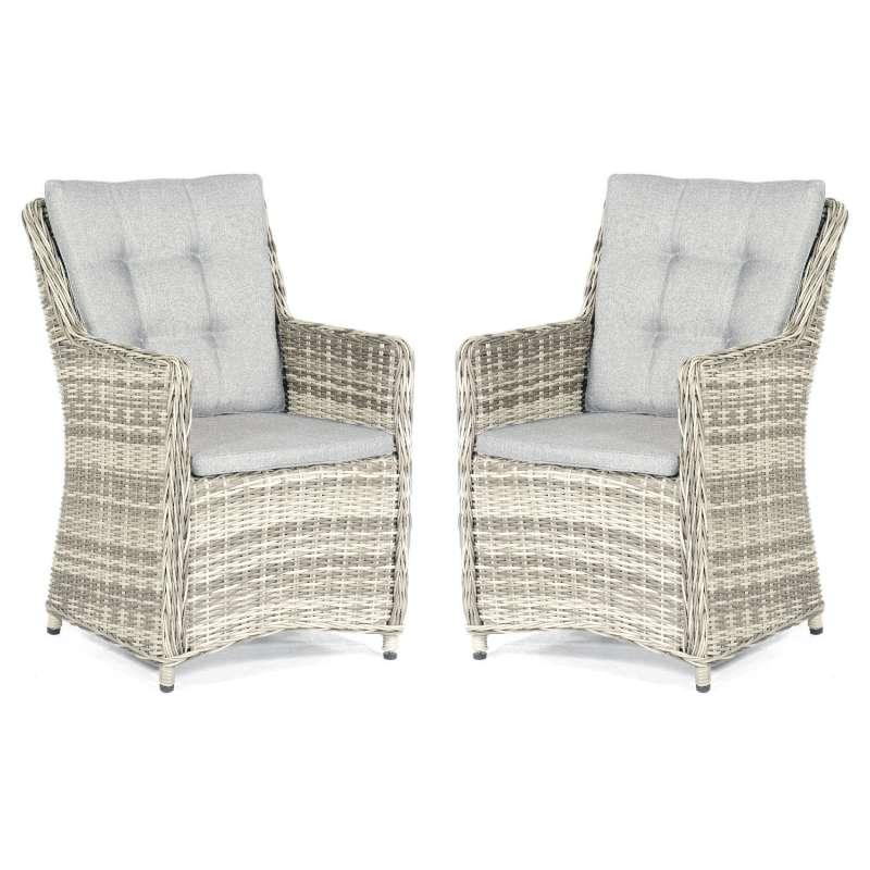 SunnySmart 2er-Set Garten-Sessel Hamilton Aluminium mit Kunststoffgeflecht vintage-taupe Gartenstuhl