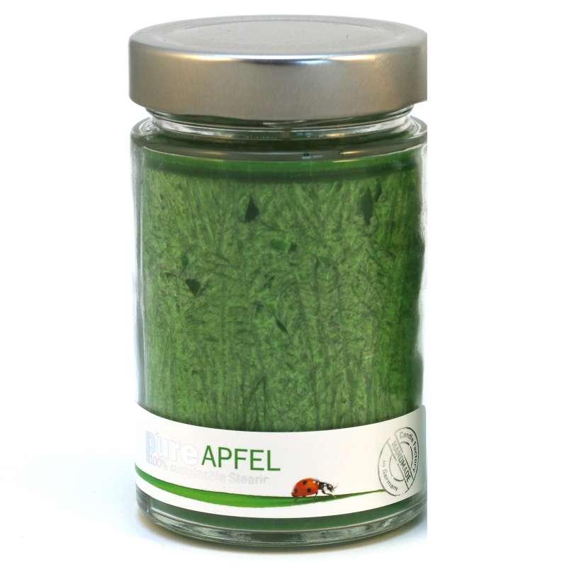Candle Factory Pure-line Apfel Kerze groß Duftkerze Glaskerze Raumduft 509002