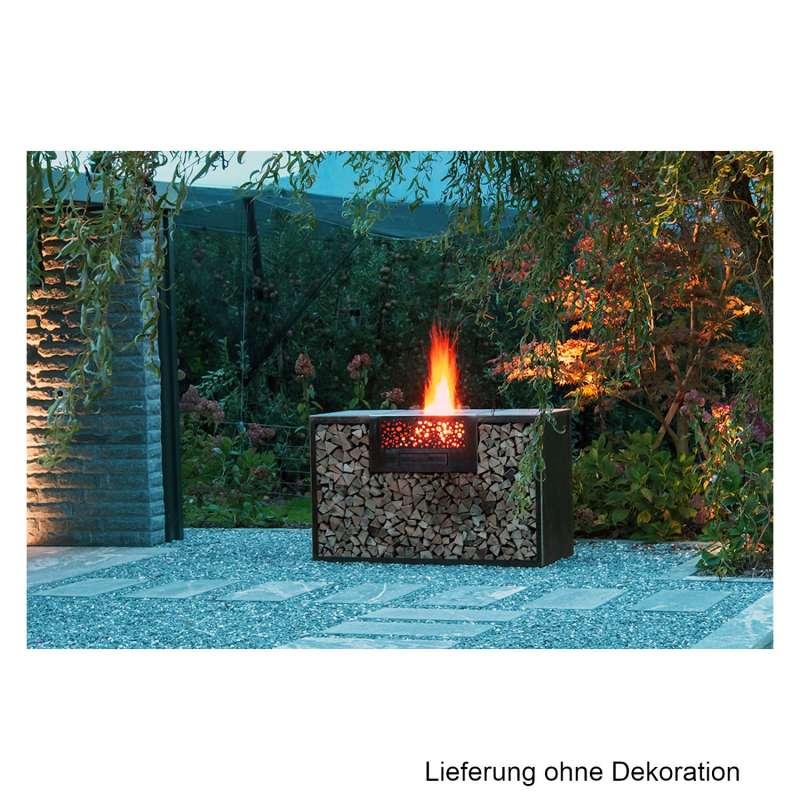 Mecondo Flammengrill® MAGNA 150x70x90 cm Edelstahl-Grillfäche Corten/Edelstahl Standgrill