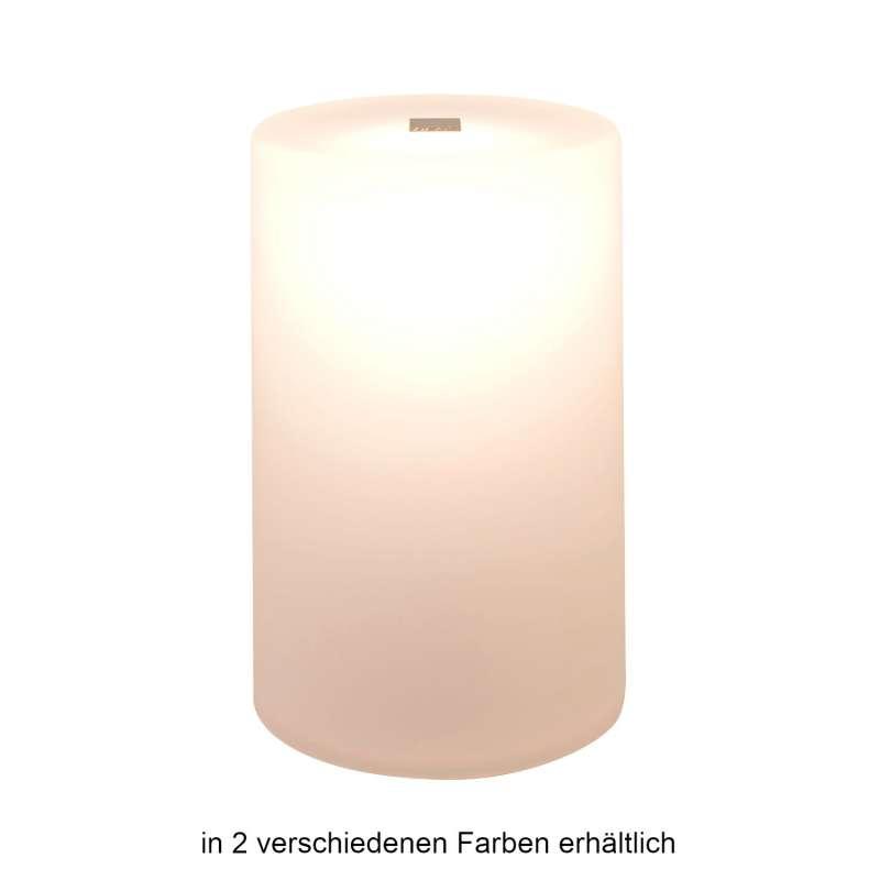 NEOZ kabellose Akku-Tischleuchte GEM 2 Resin UNO LED-Lampe dimmbar 1 Watt 18xØ11,5 cm