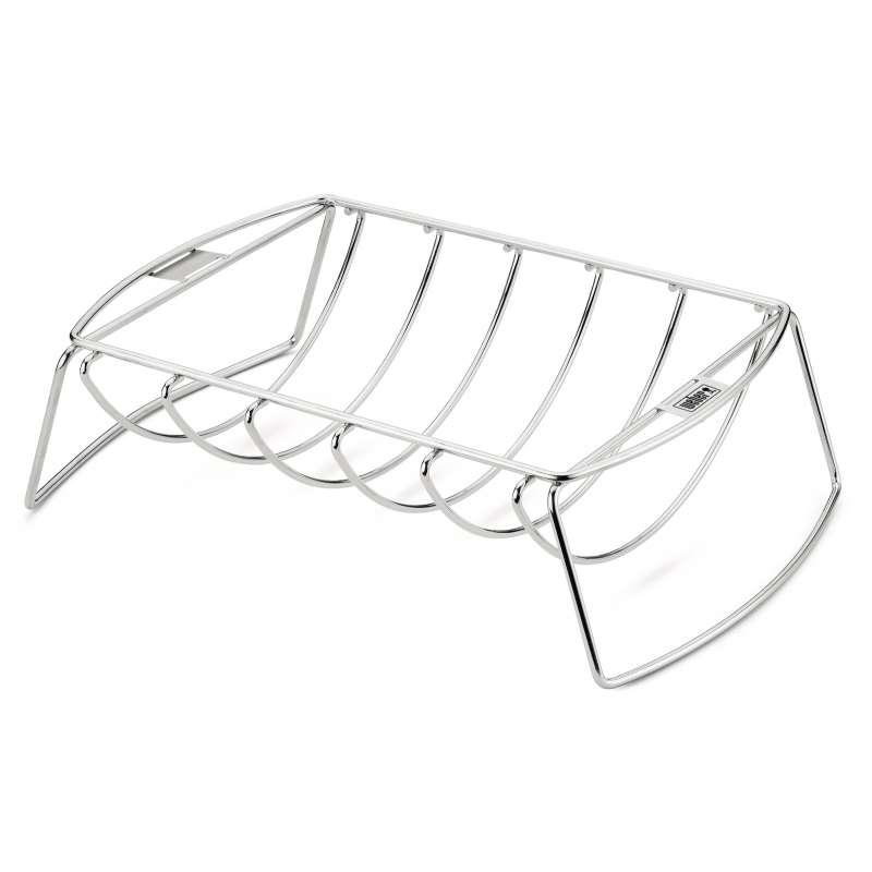 Weber Premium Spare-Rib-Halter & Bratenkorb für Grills ab 57 cm und ab Q 3000