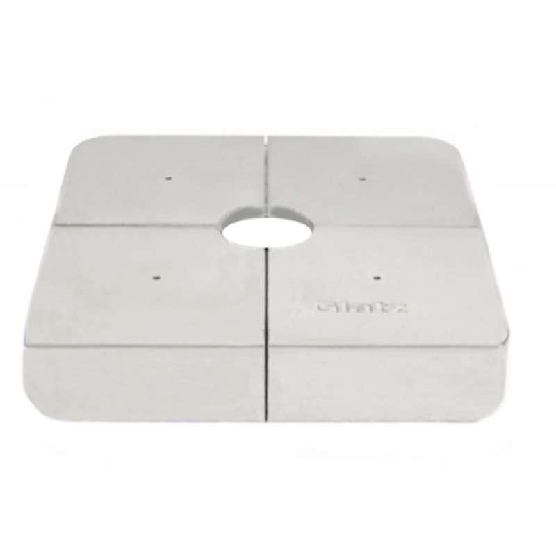 GLATZ Gewichte Set 4 Stück Decor-Betonguss für Rollensockelrahmen 125 kg