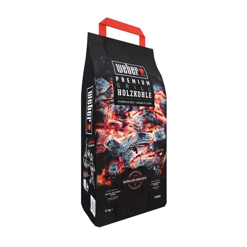Weber Premium Holzkohle 3 kg