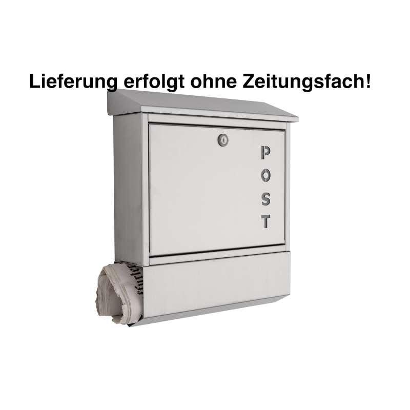 Heibi Edelstahl Briefkasten 43835 V2A ohne Zeitungsfach