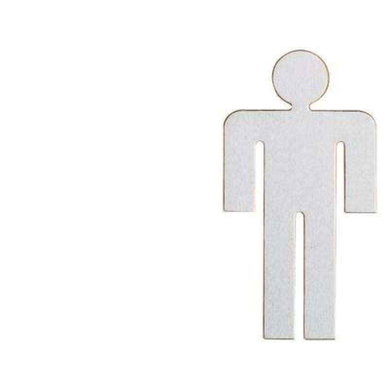 Heibi WC-Schild Herren aus Edelstahl