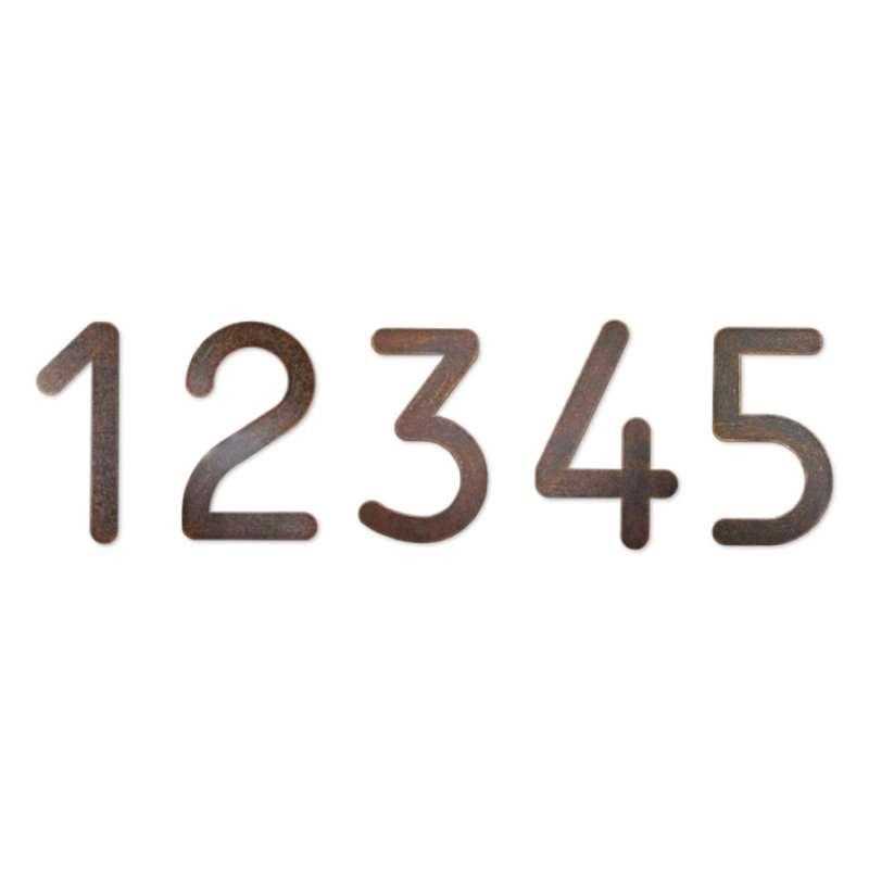 Heibi 1x MAX Hausnummer/Buchstabe zur Wahl braun-gold 10/16 cm 0 1 2 3 4 5 6 7 8 9 a b c d