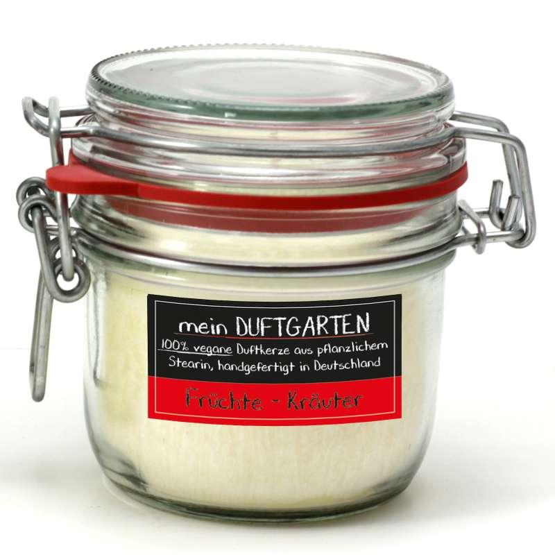 Candle Factory meinGartenduft Früchte-Kräuter Drahtbügelglas klein 507-007
