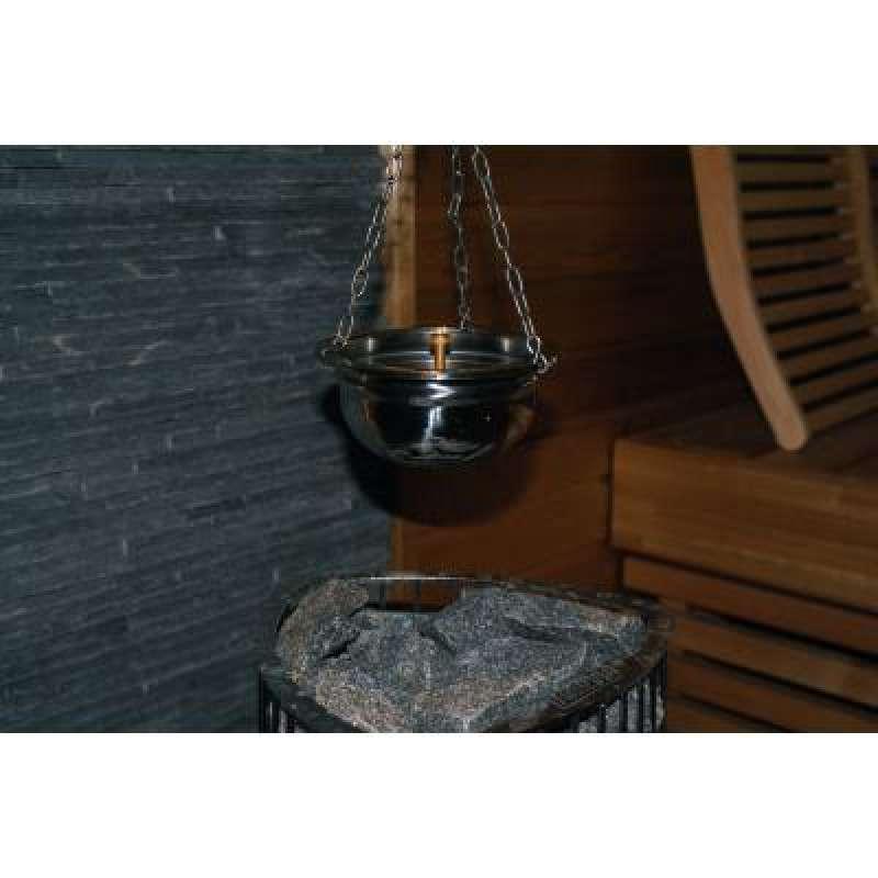 Nikkarien Sauna Aromaschale inkl. Metallkette aus Edelstahl 300 ml 848