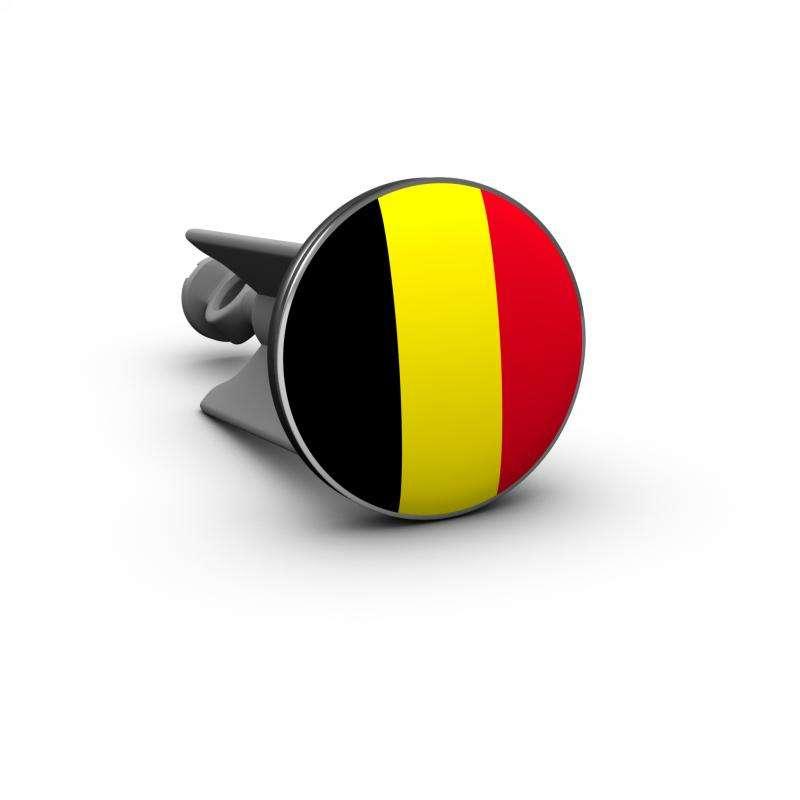 Plopp Waschtischstöpsel - Waschbeckenstöpsel Motiv Flagge Belgien 344