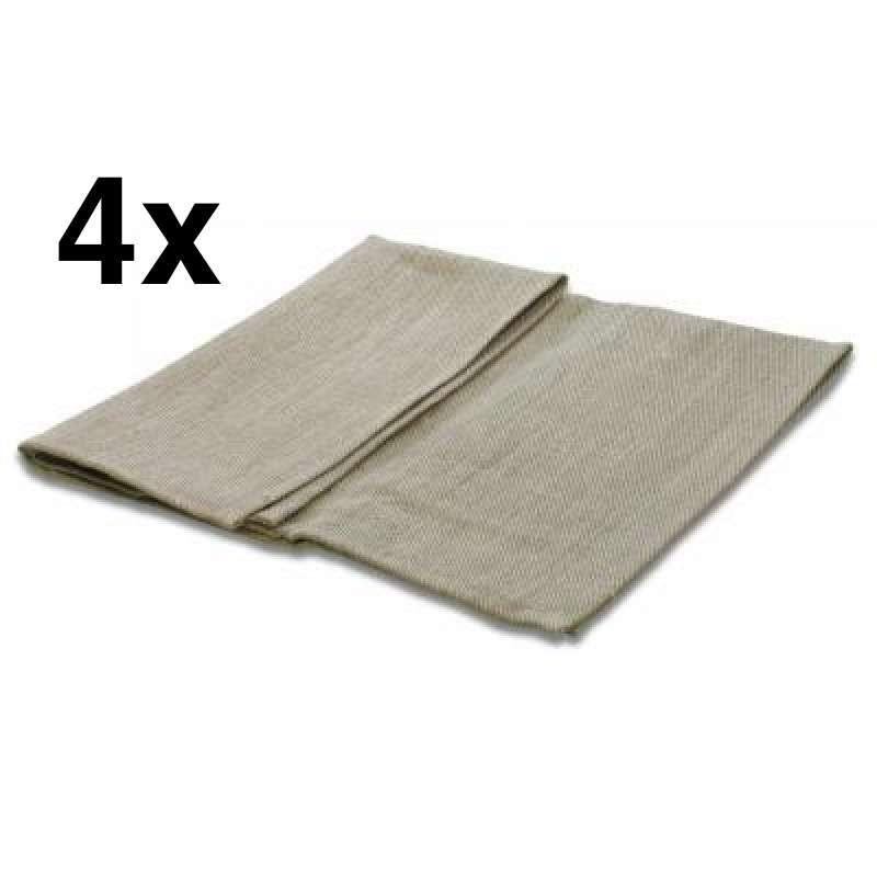 Nikkarien Saunatuch Sitztuch 45 x 55 cm Handtuch 100 % Leinen 4 Stück