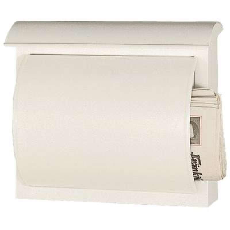 Heibi Briefkasten QUELO verzinkt pulverbeschichtet weiß 64158-034