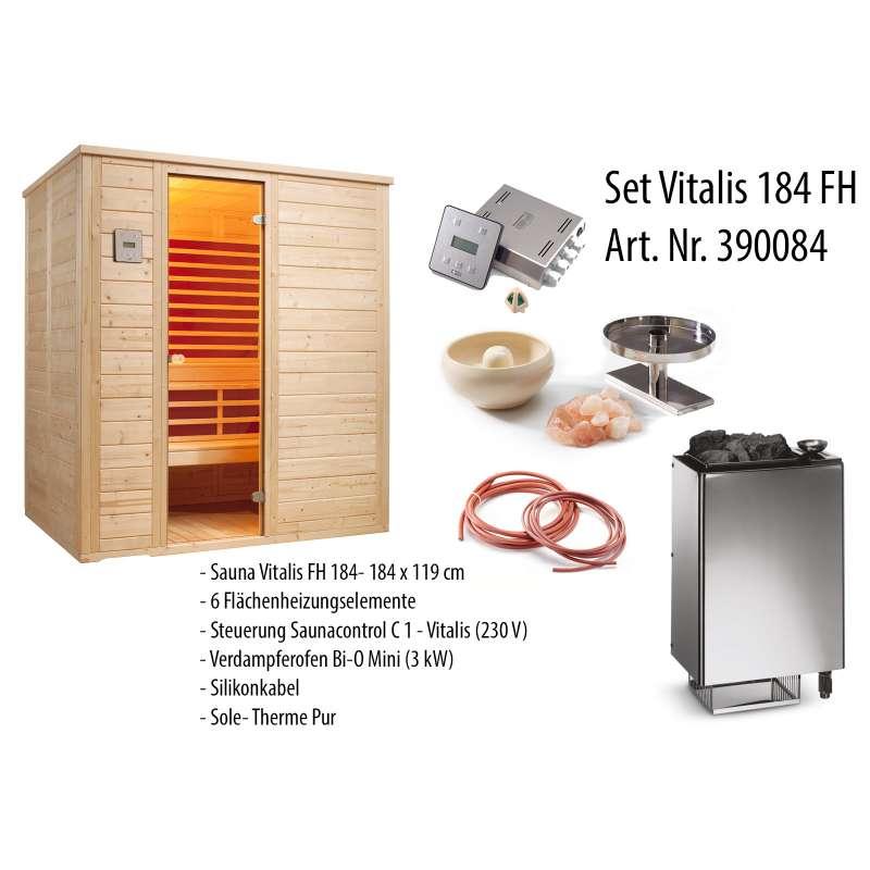 Infraworld Sauna Vitalis 184 FH Massive Kombisauna Größe 184 x 119 cm 390084