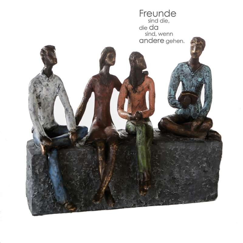 Casablanca Skulptur Network Poly mehrfarbig 21 cm