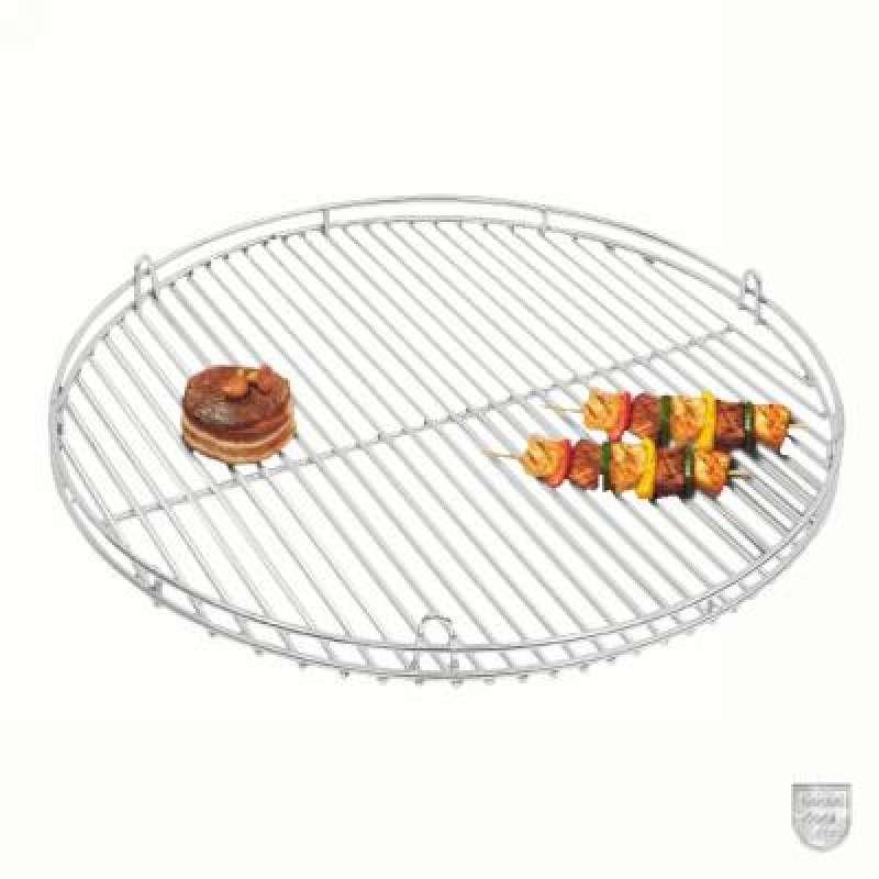 Schneider Grillrost aus Edelstahl Ø 60 cm mit Reling und Aufhängeösen