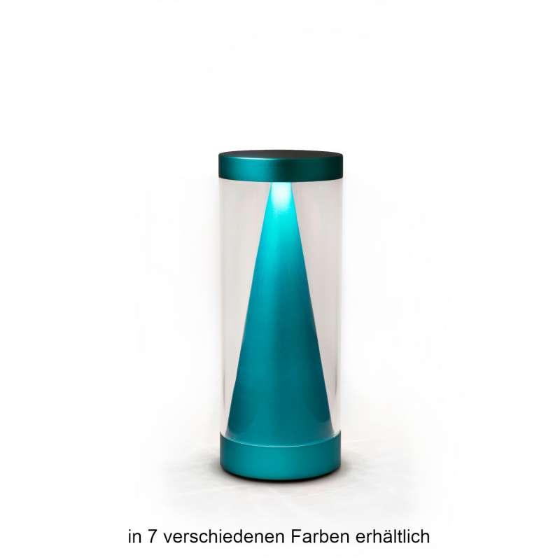 NEOZ kabellose Akku-Tischleuchte APEX UNO LED-Lampe dimmbar 1 Watt 20,8xØ8 cm