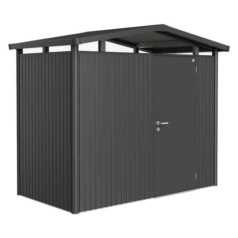 Biohort Gartenhaus Panorama® mit Standardtür dunkelgrau-metallic 5 verschiedenen Größen Gerätehaus