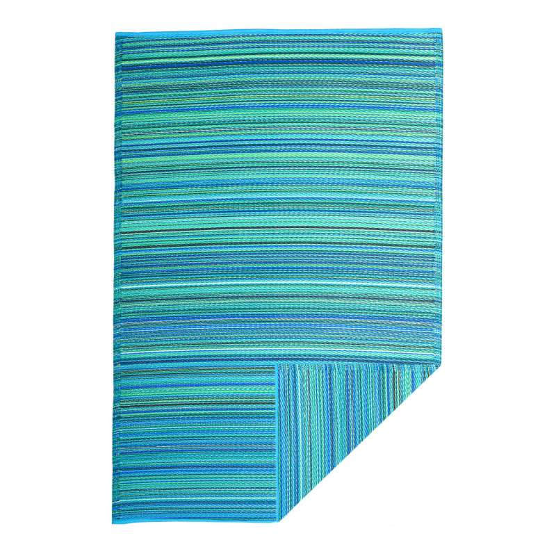 Fab Hab Outdoorteppich Cancun Turquoise&Moss Green aus recyceltem Plastik türkis 150x240 cm