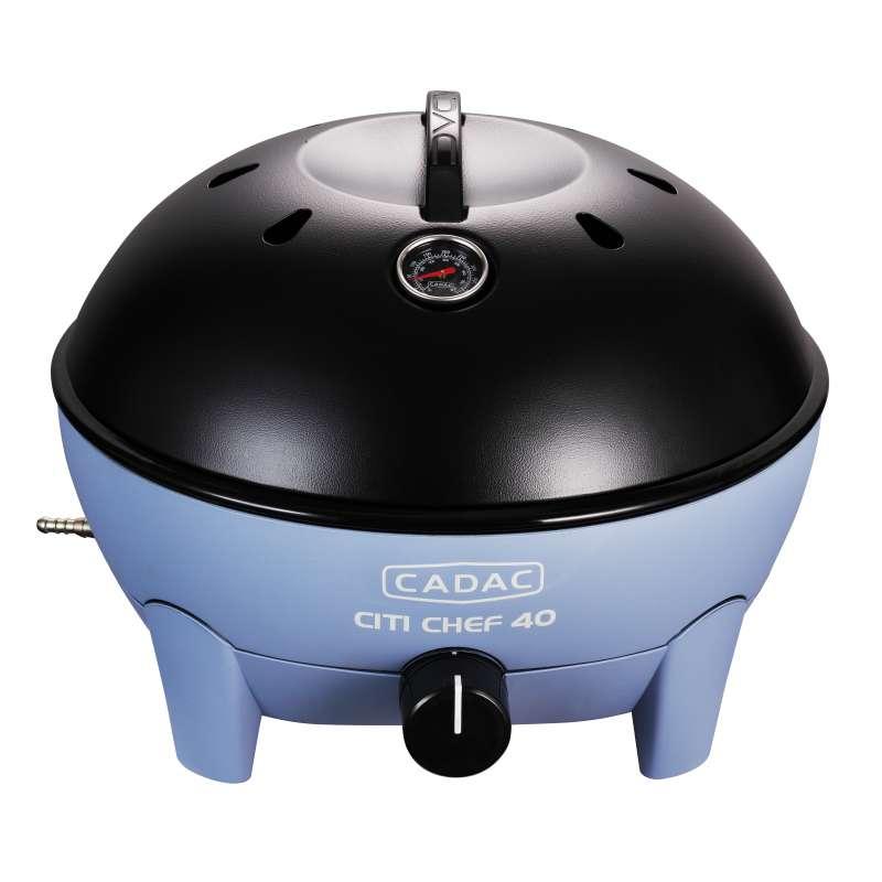 Cadac Citi Chef 40 Sky Blue, 30mbar Tragbarer Gasgrill 5610-20-15-EF