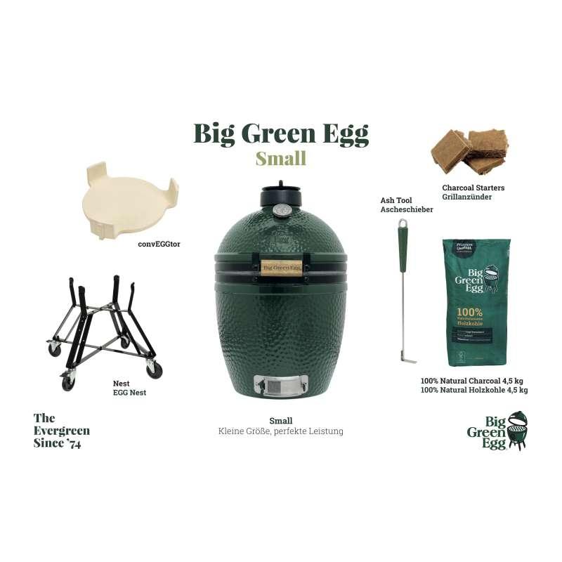 Big Green Egg S Small Starter-Paket Kamadogrill Keramikgrill ø 33 cm Grillrost für 4-6 Personen