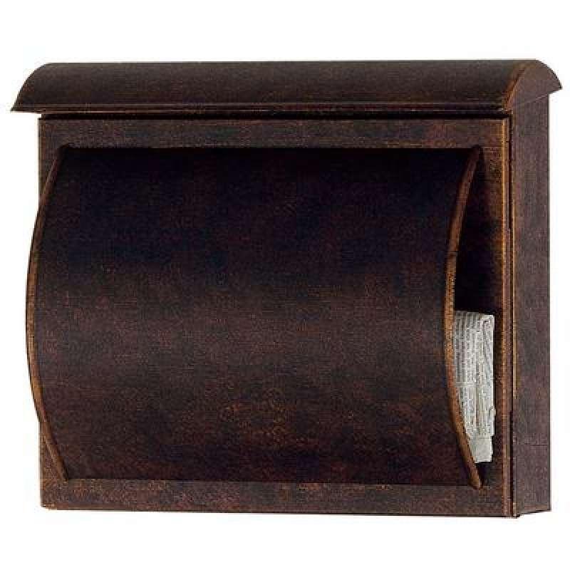 Heibi Briefkasten QUELO verzinkt braun gold patiniert 64158-002