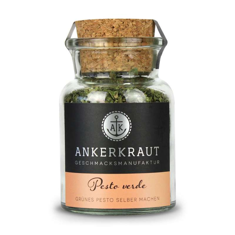 Ankerkraut Pesto Verde Gewürz Korkenglas 30 g grünes Pesto selber machen