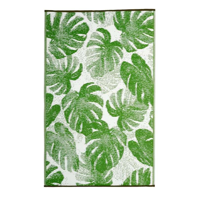 Fab Hab Outdoorteppich Panama Green aus recyceltem Plastik grün 90x150 cm