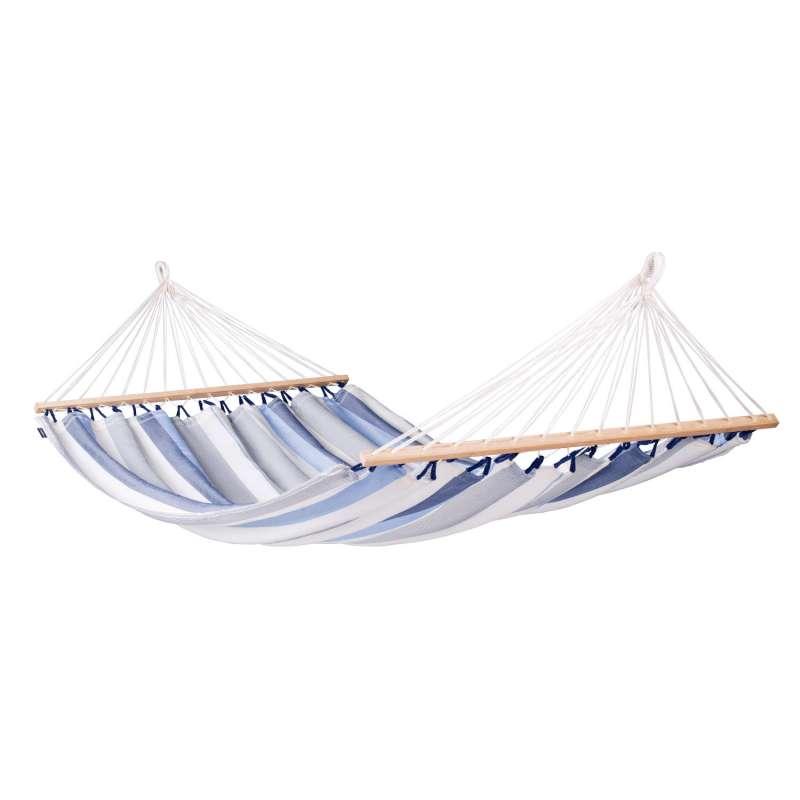 La Siesta Doppel-Hängematte ALISIO sea salt blau Stabhängematte ALR16-13