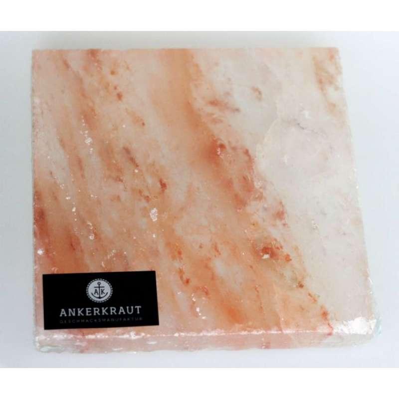 Ankerkraut BBQ Salt Block Salzstein groß 20 x 20 x 2,5 cm für den Grill
